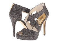 Michael Michael Kors Ariel Platform Cheetah Brown Cheetah Glitter High Heels Animal Print