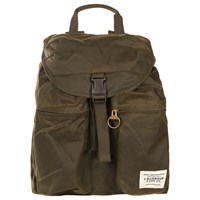 Barbour Archive Waxed Cotton Backpack Olive