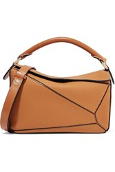 Loewe Puzzle Small Textured Leather Shoulder Bag Tan