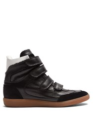 Isabel Marant Bilsy Concealed Wedge Leather Trainers Black