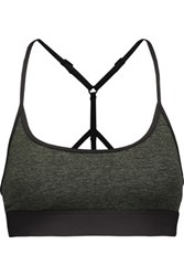 Koral Lucent Stretch Jersey Sports Bra Army Green