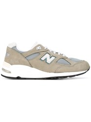 New Balance 990 Made In The Usa Sneakers Men Nylon Calf Suede Rubber 11 Green