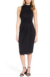 Soprano Women's Twist Front Body Con Dress Black