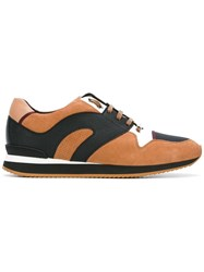 Christian Dior Homme Panelled Sneakers Brown