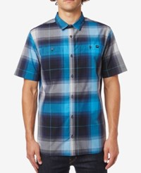 Fox Men's Herndon Plaid Shirt Grey Blue