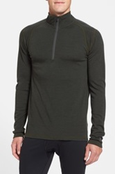 Smartwool 250G Midweight Zip Base Layer Top Green