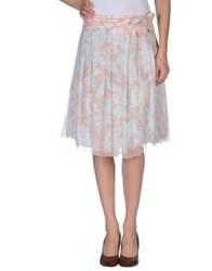 Piazza Sempione Knee Length Skirts Light Pink