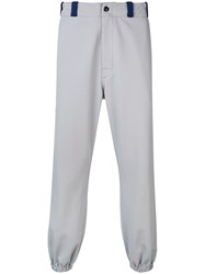 Marni Branded Jersey Trousers Grey