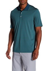 Adidas Performance 3 Color Stripe Polo Green
