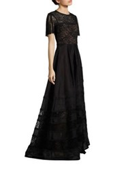 Jason Wu Organza Ball Gown Black