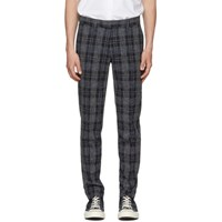 Tiger Of Sweden Navy And Grey Gordon Check Trousers