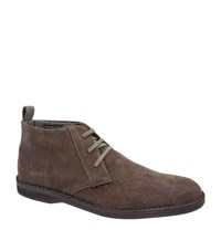 Corneliani Suede Desert Boots Male Brown