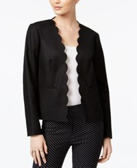 Maison Jules Long Sleeve Scalloped Blazer Only At Macy's Deep Black