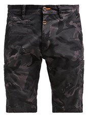 Alpha Industries Deck Shorts Black Camo