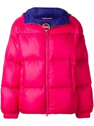 Colmar Hooded Puffer Jacket Pink And Purple