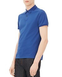 Sandro Textured Classic Fit Polo Shirt Bleu Roi