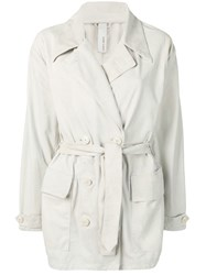 Giorgio Brato Short Trench Coat Grey