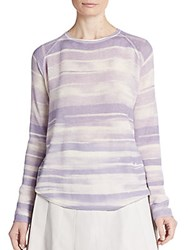 Vince Wool And Cashmere Raglan Sweater Lavender Multi