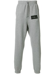Golden Goose Deluxe Brand Logo Patch Track Trousers Grey