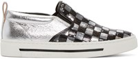 Marc Jacobs Silver And Black Sequin Mercer Skate Sneaker