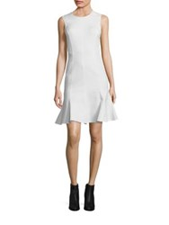 Derek Lam Back Cut Out Fit And Flare Dress Soft White