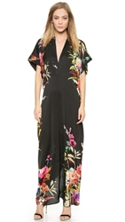 Mason By Michelle Mason Kimono Maxi Dress Black