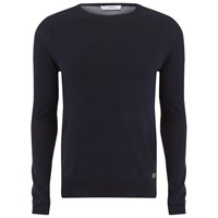 Versace Collection Men's Medusa Logo Crew Neck Knit Blue