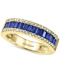Effy Royale Bleu Sapphire 1 Ct. T.W. And Diamond 1 5 Ct. T.W. Ring In 14K Gold Yellow Gold