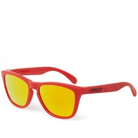 Oakley Frogskin Sunglasses Matte Red And Fire Iridium
