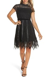 Foxiedox Maisie Lace And Velvet Cocktail Dress Black