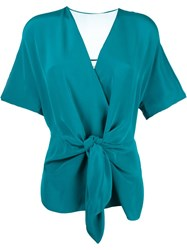 3.1 Phillip Lim Tie Front Blouse Green
