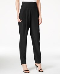 Rachel Rachel Roy Pleated High Rise Tuxedo Pants Black