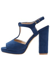 Refresh High Heeled Sandals Navy Blue
