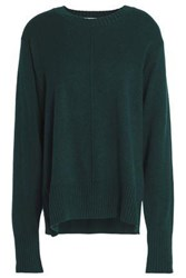 Sandro Gilda Wool And Cashmere Blend Sweater Forest Green