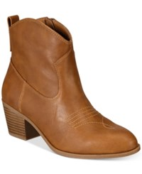 Style And Co Mandyy Western Booties Only At Macy's Women's Shoes Coffee