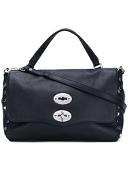 Zanellato Large Studded Detailed Tote Women Leather One Size Blue