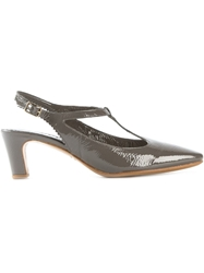 Roberto Del Carlo T Bar Pumps Metallic