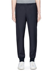 Paul Smith Wool Hopsack Jogging Pants Blue