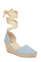 f4d67b9b7d08 Topshop Williams Wraparound Espadrille Wedge Blue