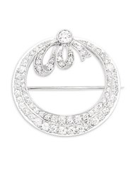 Estate Jewelry Collection Vintage Diamond And Platinum Pin Silver