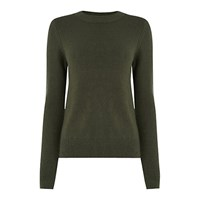 Oasis The Perfect Crew Neck Jumper Khaki