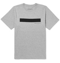 Saturdays Surf Nyc Bar Printed Melange Cotton Jersey T Shirt Gray