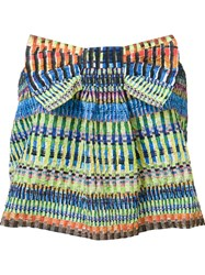 Saloni Bow Strapless Top Multicolour