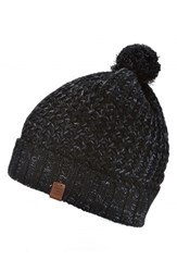 Men's Bickley Mitchell Pom Beanie Black Black Twist