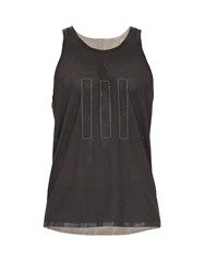 Adidas Day One Contrast Panel Mesh Tank Top Black Multi