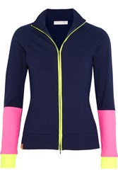 Monreal London Color Block Stretch Jersey Jacket Navy