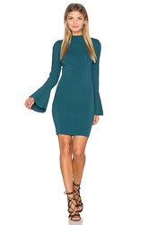 Keepsake Lighthouse Knit Long Sleeve Dress Green