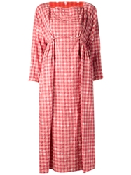 Daniela Gregis Gingham Picnic Dress Red