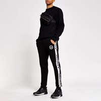 Hype River Island Black Speckle Tape Side Joggers