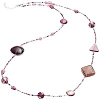 Martick Galaxy Murano Glass And Crystal Long Necklace Plum